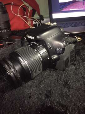 Canon 600d + kit 18-55mm is