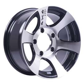 jual velg type HSR Deu JD6058 HSR Ring-15x7 H5x1397 ET-10 Black Machin