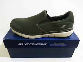 Sepatu Skechers Memory Foam Flex Advantage 3.0 Osthurst 52962 Olive