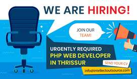 Urgently Required PHP Developer in Ollur, Thrissur