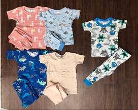 Kids Export Surplus Branded summer Half Sleeve Pant sets