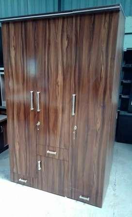 Brown Wooden 3 door Cabinet