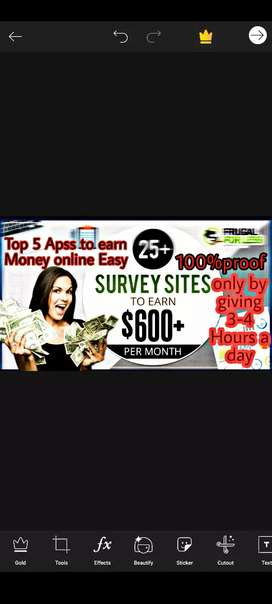 I will give you top 5 apps and top 3 website which make money for you.