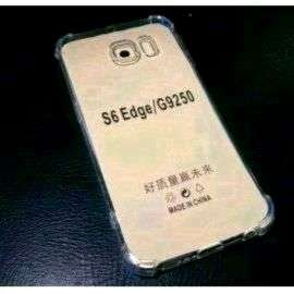 Case Galaxy S6 Edge Anti Crack Silicone Clear Bening