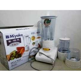toko permata blender miyako 102 PL gelas plastik 3 in 1