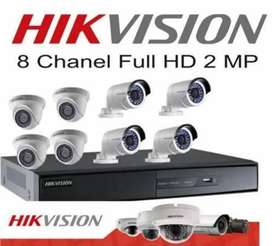 PAKET CCTV 8 CHANNEL HIKVISION 1080P 2 MEGAPIXEL.