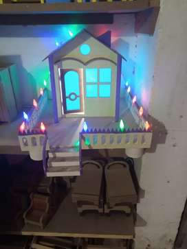 Hand made wooden kids house