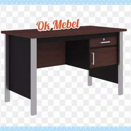OK MEBEL^ GROSIR Meja Kantor EXPO Office Desk Kaki Besi 1/2 Biro