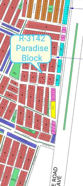R-3142 Paradise Block on 5 Years Instalment in North Town Residency