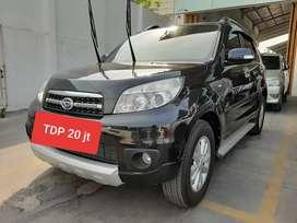 Terios 1.5 TX Manual 2012 Hitam, Km LOW, TDP 20 jt aja