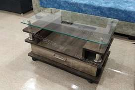Centre Table with Glass D1