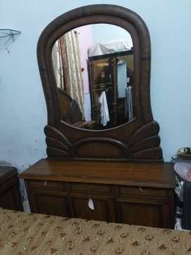 Wooden Bed and Dressing etc