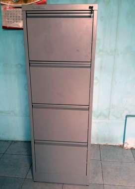 Filing Cabinet Besi IMPORTA FC-D4C Dark Grey Steel (Sistem 1 Kunci)