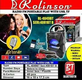 Speaker bluetooth Rolinson RL 4049 BT Seri 4081 suara super mantap