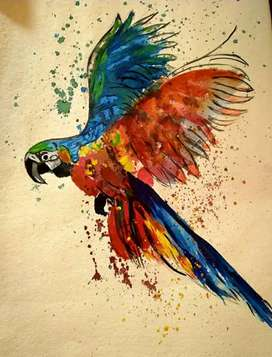Macau Bird painting for sale with frame