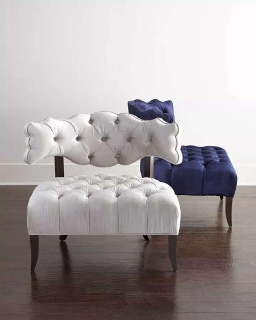 Kursi sofa retro, motif modern, kayu jati, finis natural, free ongkir 0