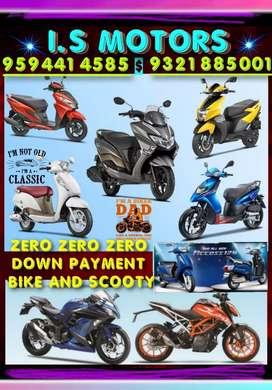 All brand Scooty zero down payment bike maximum cost