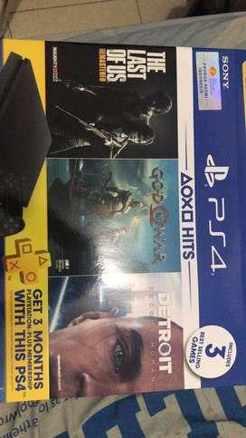 Dijual PS4 slim Hits Bundle 1TB
