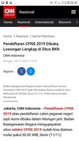 Jasa Upload dan pendaftaran online CPNS 2019