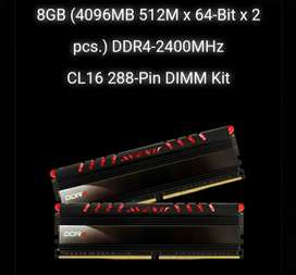 8gb ddr4 up to 2666mhz avexir core 2 led merah breathing PC RAM