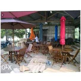 Meja payung taman, pantai, kolam, tempat wisata, halaman, vila,