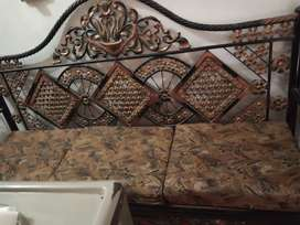 Iron sofa with center table