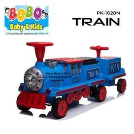 Mainan Kereta Api Bisa Dinaiki Happy Train PK-1828N - Mobil Aki Ana