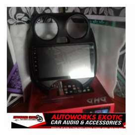 Hu android  nissan march +frame pnp