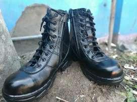 Sepatu Safety Satpam Kulit Asli