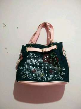 tas hello kitty bahan jeans