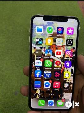 I phone X 64 GB silver white color