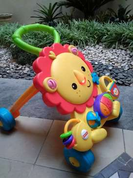 Lion fisher price mainan n alat berjalan