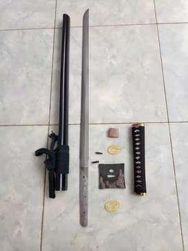 katana/shinken ninjato real hammon (pedang samurai)