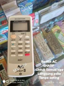 Remot AC Sharp bisa untuk semua tipe free batre