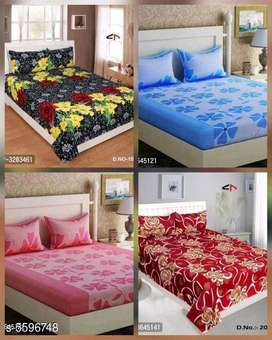 Double Bedsheet Set With Pillow Cover