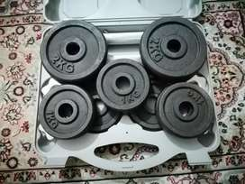 Dumbell rod and plates