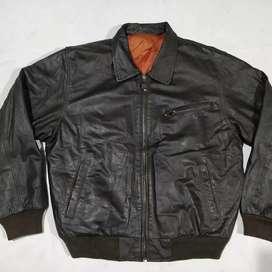 Jaket kulit bomber impor MC DUCAN