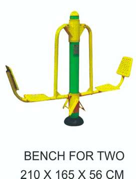 ALAT FITNESS OUTDOOR MURAH - BENCH FOR TWO