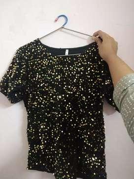Embellished black top
