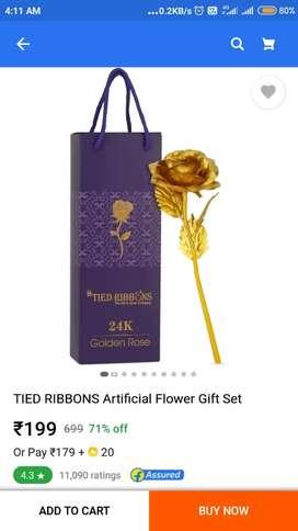 Golden rose for 150 only