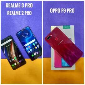 Realme 2 pro , Realme 3 pro and oppo F9 pro