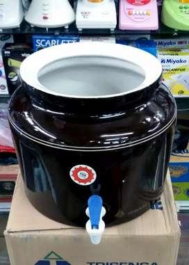 Guci Keramik Galon Air Minum + Kran (Polos / Tanpa Motif)