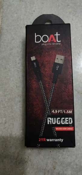 BOAT RUGGED MICRO USB CABLE  1.5M  (NEW) PREMIUM BRAIDED CABLE
