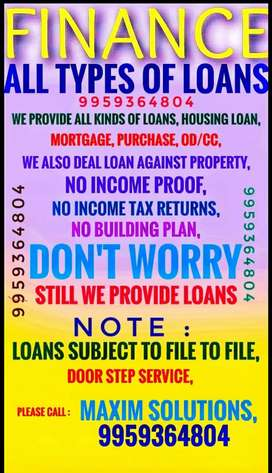 FINANCE *** ALL TYPES OF LOANS