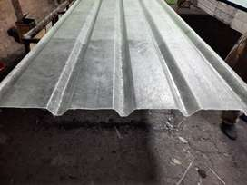 Fiberglass corrugated/ribbed and plain roof sheets