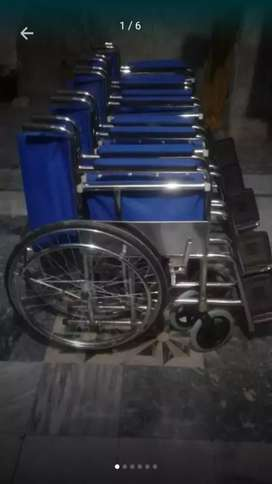 Brand New Folding Wheel Chair with Large front Wheels. Free Delivery.