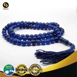 Tasbih Batu Blue Jade 99 Butir Royal Blue Original Saby