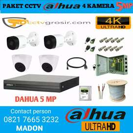 KAMERA CCTV DAHUA 5MP 4 CHANNEL (GARANSI TERJAMIN RUSAK GANTI BARU)