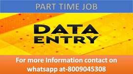 PART TIME work Offline Home based job Data entry work typing job