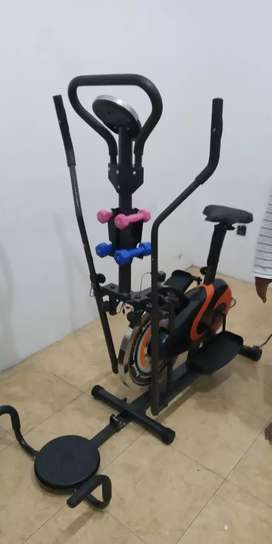 Sepeda fitnes Aerobik 5 fungsi  best Orbitrek plat